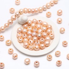 Aobei Pearl, 10 Pieces from the Sale, 2.5 mm Large Hole Freshwater Pearls, 10-11 mm Potato Loose Pearl, Jewelry Findings, ETS-L0059