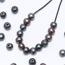 Aobei Pearl, 10 Piece from the Sale,  2.5 mm Large Hole Freshwater Pearls in Diameter 11-12 mm and Potato Shape, ETS-L0061