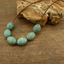 20 Pcs, Turquoise beads strands, 15 mm * 20 mm natural beads,turquoise beads for jewelry,wholesale natural stone,ETS-LB014