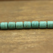 21 pcs, 8.5 mm * 9.5 mm barrel turquoise beads, loose beads, turquoise, barrel beads, ETS-LB019