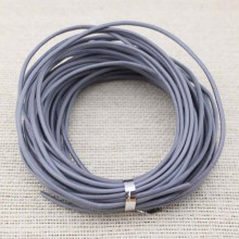 Aobei Pearl - Bracelet leather cord,genuine leather cord,2.0 mm round leather cord,grey leather cord,leather cord for jewelry, 10yards ,ETS-P008
