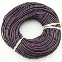 10 yards,Purple genuine leather cord,leather cord,3.0 mm-6.0 mm round leather cord for jewelry,leather string cord,ETS-P024
