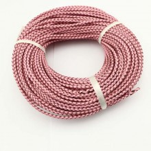 10 yards,Pink genuine leather cord,leather cord,3.0 mm-6.0 mm round leather cord for jewelry,leather string cord,ETS-P025