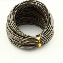 10 yards,Round leather cord,grey leather cord,round leather cord,original leather color,natural leather cord,leather cord,ETS-P034