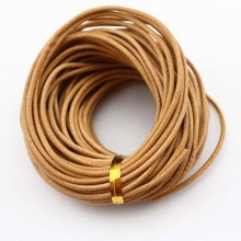 Round leather cord,genuine leather cord,round leather cord,original leather color,natural leather cord,leather cord,10yards,ETS-P040