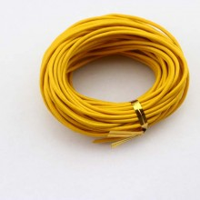 2.0 mm leather cord, yellow leather cord, round leather cord, 10 yards, ETS - P042
