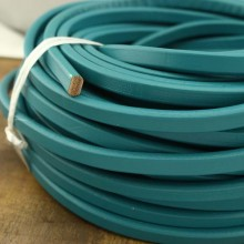 Aoebi Peal - 24 Inches from the Sale, 10 mm * 6 mm Genuine leather cord, flat leather cord, leather jewelry, ETS-P053