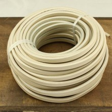Aobei Pearl - 24 Inches from the Sale, Flat leather cord, white leather cord, 10 mm * 6 mm, genuine leather cord, ETS-P056