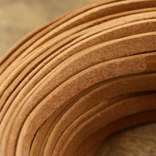 5 Yards, 10 mm * 2 mm Flat brown leather cord, flat leather cord, genuine leather  cord, ETS - P062