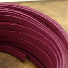 Flat leather cord, genuine leather cord, 5 Yards, ETS-P065