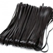 Aobei Pearl, Handmade Material, 5 Yards from the Sale, Dark Brown Genuine Flat Leather Cord, ETS-P067