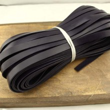 Violet flat leather cord, genuine leather cord, leather bracelet, 5 Yards, ETS -  P070