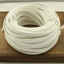 5 Yards white leather cord, leather cord, white leather, ETS - P071