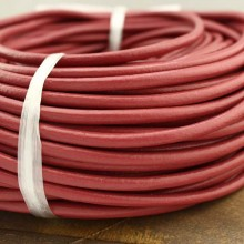 10 yards red round leather cord, leather cord, 4 mm, 5 mm , 6 mm, wholesale, ETS - P072