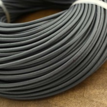 10 Yards Dark grey round leather cord, genuine leather cord,  4 mm, 5 mm, 6 mm, ETS - P073
