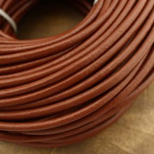 10 Yards brown round leather cord, 4 mm, 5 mm, 6 mm, leather cord, brown leather, ETS - P074