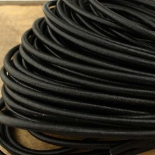 Black leather cord, round leather cord, 10 Yards, wholesale, 4/ 5/6 mm, ETS - P075