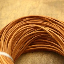 Aobei Pearl - 10 Yards from the Sale, Brown worn leather cord, genuine leather cord, leather cord, ETS-P078