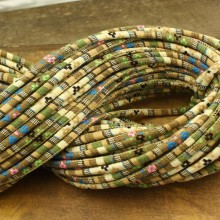 ETS-P087  Length 10 yards diameter 6mm complex color cloth rope