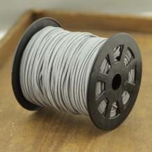 ETS-P106     Diameter 1.5mm * 2.5mm 100 yards silver gray Korean velvet