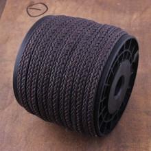 ETS-P110    Diameter 10mm * 2mm 10 yards deep brown braided flat wax rope