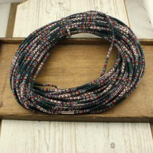 10 yards, Bohemian rope for Christmas,xmas gift,cotton rope,ethnic rope,fabric cotton rope, Knitted cord, Wrapped Thread, ETS-P123