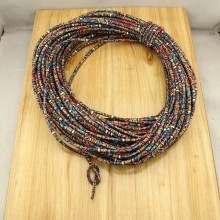 10 yards, Fabric cotton rope,ethnic cotton cord,tribal leather cord,bracelet cord,necklace cord,jewelry finding,5mm boho rope,ETS-P134