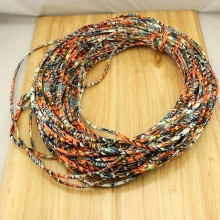 10 yards,African Ethnic Fabric Cord for Making Jewelry, Colorful Fabric,Cotton Cord,5 mm tribal cotton cord.ETS-P140 Inactive