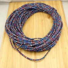 10 Yards,Friendship ethnic cotton rope,chiffon fabrics rope,ethnic rope,bohemian cord,leather rope,5mm leather cord,ETS-P141 Inactive