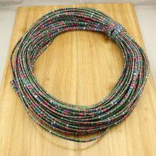 10 yards,Ethnic design cord,floral fabric cotton rope,statement rope cord,bohemian rope cord,cheap cotton rope cord,5 mm,ETS-P142