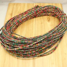 10 yards, Tribal Ethnic Cord, Fabric Ethnic Rope,Fabric ethnic cord, floral print cotton cord.ethnic cotton rope for bracelet making,ETS-P143