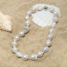 15-16 MM Keshi Natural White Pearl 16'' Handmade Fashion Wedding Necklace,ETS-S010