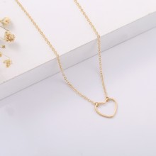 Aobei Pearl, 18K Gold Plated tiny heart pendant , lobster clasp ,adjustable Necklace ,Handmade necklaces,Jewelry for Women Necklace,gifts,ETS-S1033