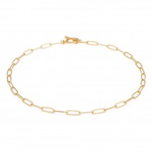 Aobei Pearl,18k gold plated chain OT buckle Necklace, adjustible dainty Necklace, charm Jewelry for Women Necklace, ladies gifts ETS-S1043