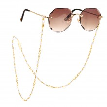 Aobei Pearl,18K Gold Plated Pearl Beaded Glasses Chain 18K Gold Plated Eyeglass Chain Sunglasses Eyewear Strap Holder for Women,ETS-S1157