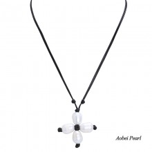 Aobei Pearl Handmade Freshwater Pearl Necklace with Braided Wax Rope, Adjustable Necklace, Pearl Choker Necklace, ETS-S195
