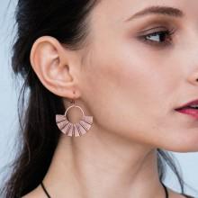 Aobei Pearl - ETS-E144 handmade earring Bronze color new design for women girls