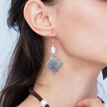Aobei Pearl - High Quality Well-design Handcraft Vintage Alloy Earrings Fashion Design Hoop Earrings ETS-E142