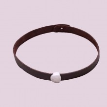 Aobei Pearl Hammered Freshwater Pearl, Alloy Accessories & Korean Velvet Choker Necklace, Pearl Choker, ETS-S597