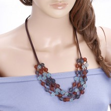 Handcraft Braided Glass Beads Necklace for Women ETS-S678