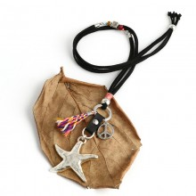 Aobei Pearl Handmade Necklace with Korean Velvet, Alloy Accessories, Crystal Accessories, cotton thread Tassel, ETS-S722