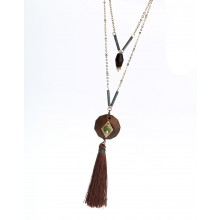 Aobei Pearl, Beibei Design Personality Necklace, Two laps with 6 cm extended chain, ETS-S746
