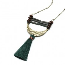 Aobei Pearl Handmade Beibei Design Necklace made of alloy accessories and silk thread tassel, ETS-S747