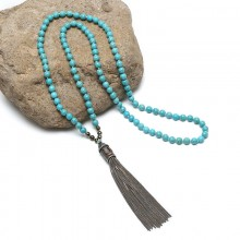 Aobei Pearl, Handmade Turquoise Necklace with Chain Tassel for Fashion Shows of Girls ! ETS-S805