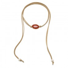 Aobei Pearl, Handmade Suede & Natural Stone Necklace or Bracelet  in Simple Design for Daily Life, Pearl Necklace, ETS-S811