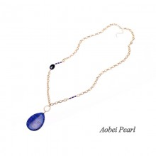 Aobei Pearl Personalized Necklace made of Natural Stone Pendant and Alloy Accessory, Chain Necklace, Pendant Necklace, ETS-S922