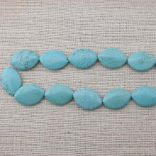 2 string of about 26 pcs,  ETS-T021 Size 30 mm * 20 mm diameter hole 1.5 mm rhombus turquoise beads