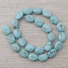 2 string of about 50 PCS,  ETS-T026  bead  size 12 mm * 16 mm diameter hole 1.5 mm baroque turquoise