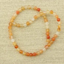 2 string of about 76 cm in length,  6 mm Tawny agate beads, round agate beads, agate beads, jewelry supplies, ETS - T064