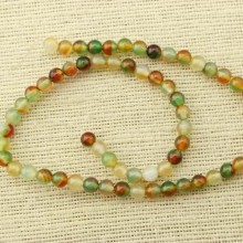 2 string of about 76 cm in length,  6 mm color mixing agate beads, wholesale, loose beads, ETS - T069